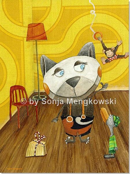 Herr Schnabel - Serie: Pastellbilder Motive fürs Kinderzimmer