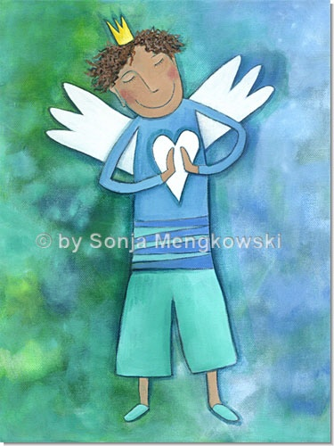Schutzengel für Jungen - Serie: Acrylbilder Motive fürs Kinderzimmer