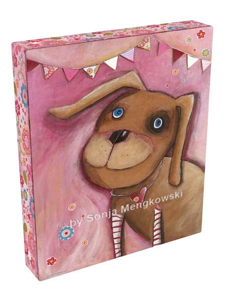Kinderzimmer Leinwandbild - Hund Rosalie