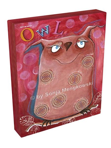 Owl serie acrylbilder f rs kinderzimmer - Leinwandbilder kinderzimmer ...