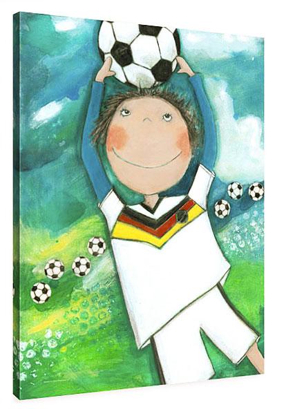 Fußballer - Leinwand Bild fürs Kinderzimmer