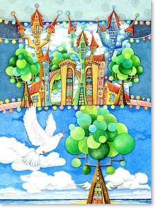 Motiv: Land des Friedens zur Kommunion