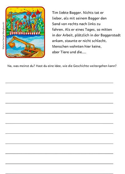 Unterrichtmaterial Deutsch Erzählanfänge