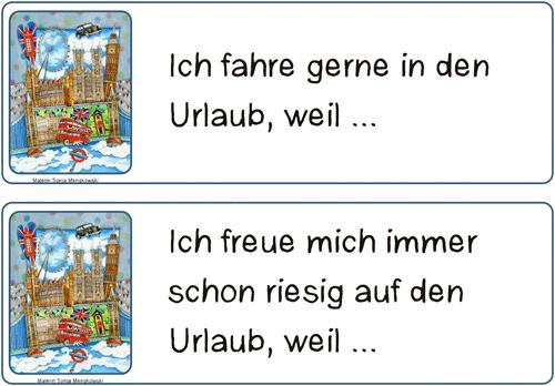 Unterrichtmaterial Deutsch Schreibanlass Urlaub Europa