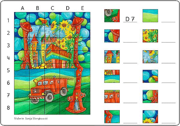 Unterrichtmaterial Deutsch Suchsel Feuerwehr