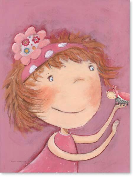 Acrylbild Blumenmädchen Maja - Leinwanddruck fürs Kinderzimmer