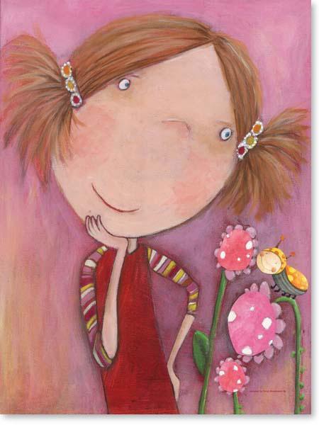 Acrylbild Jenny Blumenkind- Leinwanddruck fürs Kinderzimmer