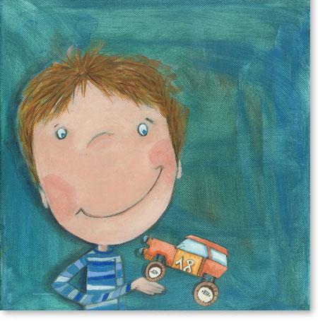 Acrylbild Max mag Autos - Leinwandbild fürs Kinderzimmer