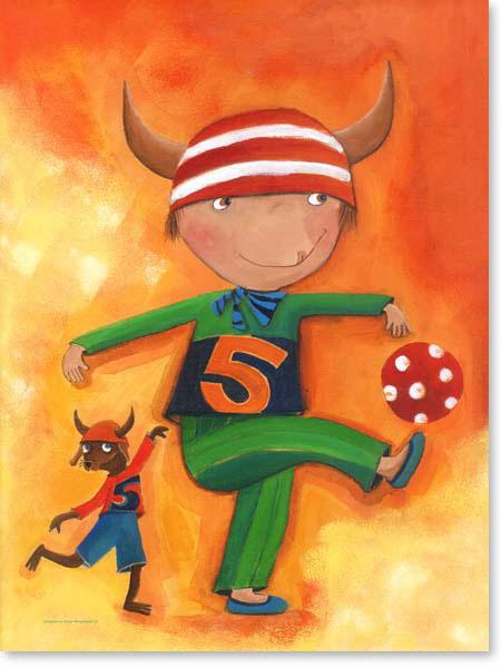 Acrylbild Olle und Bolle - Leinwanddruck fürs Kinderzimmer