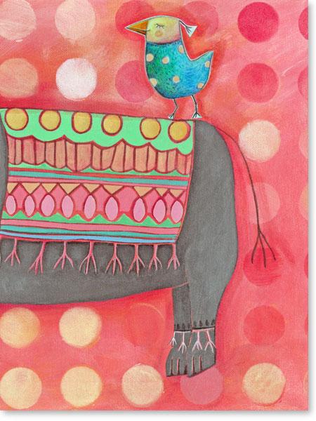 Acrylbild Orient Express - Leinwanddruck fürs Kinderzimmer
