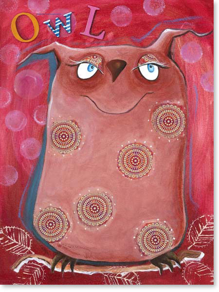 Acrylbild Owl - Leinwandbild fürs Kinderzimmer