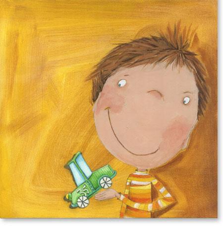Acrylbild der schnelle Pit - Leinwandbild fürs Kinderzimmer