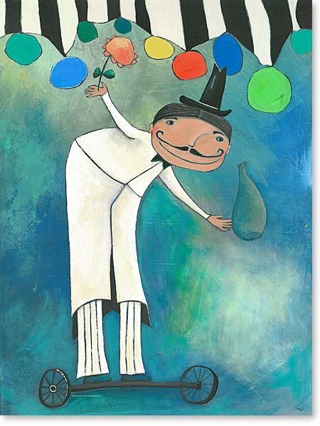 Herr Zauberrad - Zauberer im Zirkus Wunderwelt - Serie: Acrylbilder Motive fürs Kinderzimmer