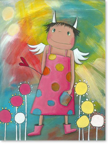 Acrylbild Schutzengel Holly - Wandbilder fürs Kinderzimmer