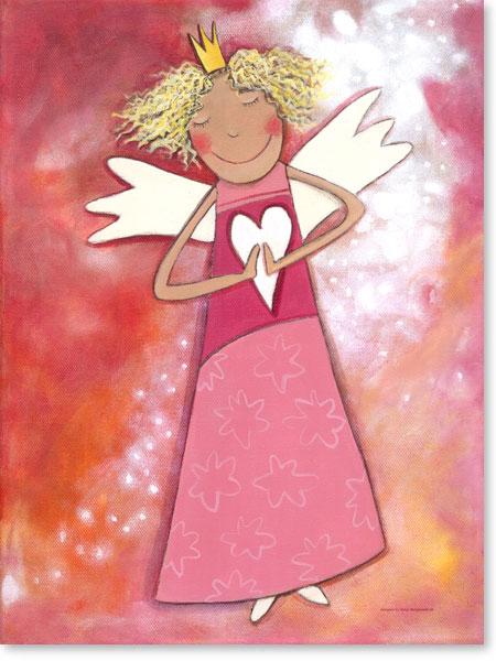 Acrylbild Schutzengel für Mädchen - Wandbilder fürs Kinderzimmer