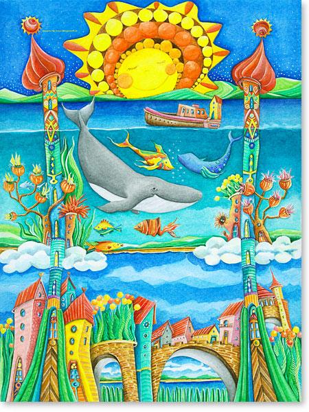 Die sagenumwobene Märchenwelt ATLANTIS - Serie: Aquarellbilder Motive fürs Kinderzimmer