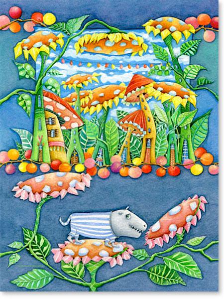 Das liebe Blumen Fresserchen Ratzeputz - Serie: Aquarellbilder Motive fürs Kinderzimmer