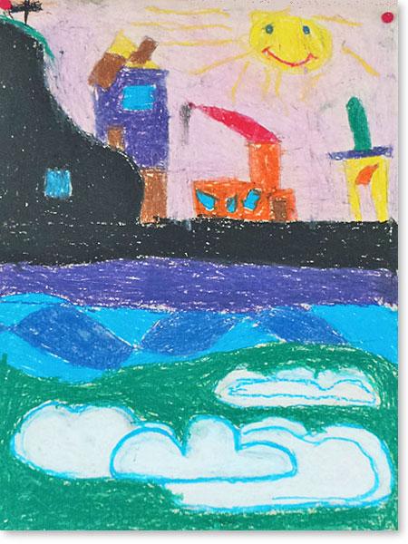 Kunst fördert Kinder - Motiv: Bergsteiger City von Henry H.