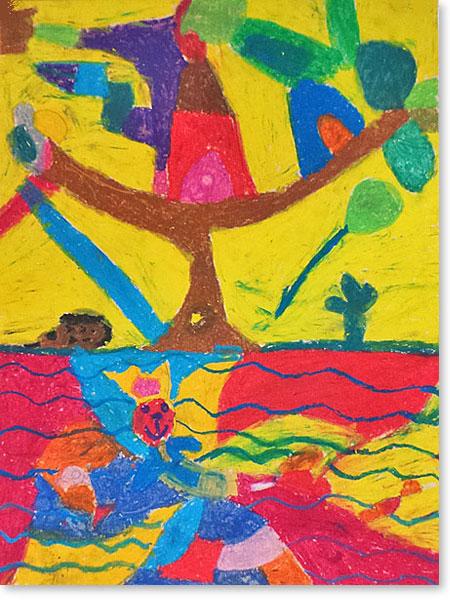 Kunst fördert Kinder - Motiv: Hottentottenstadt von Selma S.