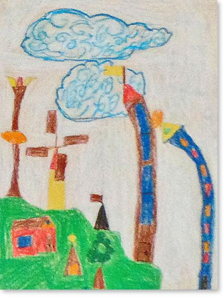 Kinderbild Motiv: Indianerstadt von Ben R.
