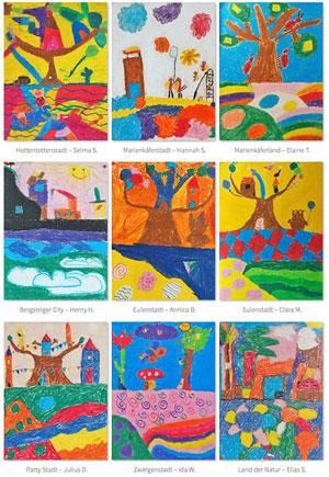 """Kunst fördert Kinder - Projektarbeit """"Traumstädte"""""""