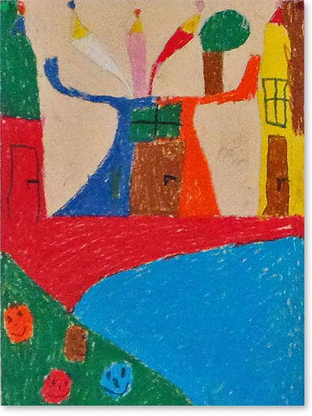 Kinderbild Motiv: Künstlerstadt von Mats H.