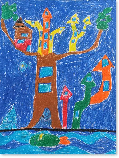 Kinderbild Motiv: Fischkönig von Aiden W.