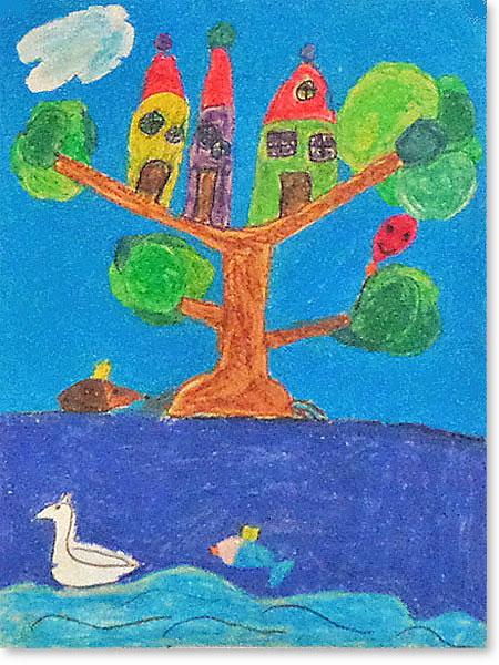 Kinderbild Motiv: Tierfantasiestadt von Aila S.