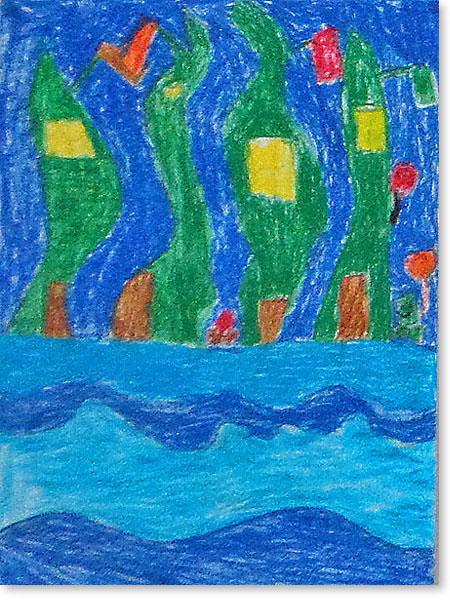 Kinderbild Motiv: Unterwasser City von Till A.
