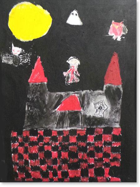 Kinderbild Motiv: Vampirstadt von Elina V.