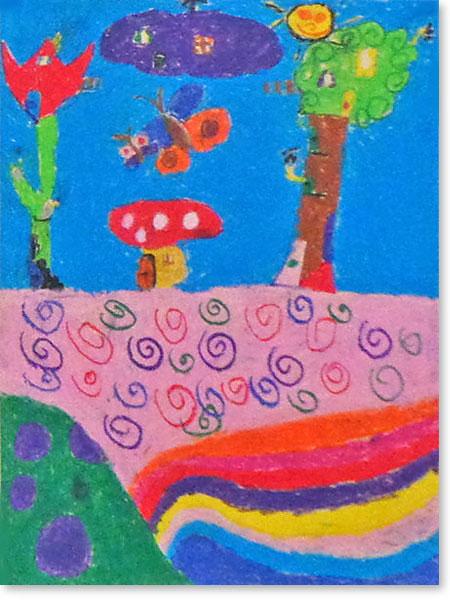 Kinderbild Motiv: Zwergenstadt von Ida W.
