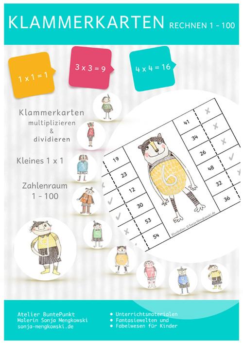 Klammerkarten Rechnen für Grundschulkinder ab Klasse 1 – 4
