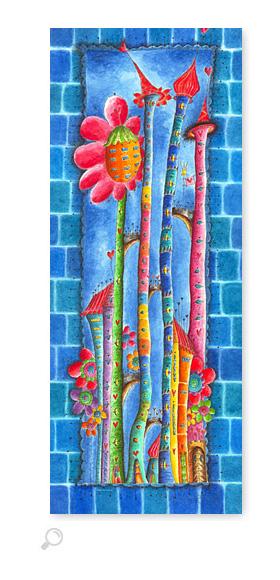 Windblumen Land 3 - Serie: Aquarellbilder Motive fürs Kinderzimmer