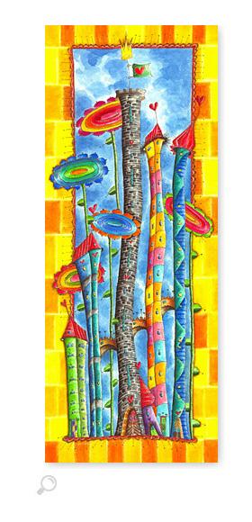 Windblumen Land 4 - Serie: Aquarellbilder Motive fürs Kinderzimmer