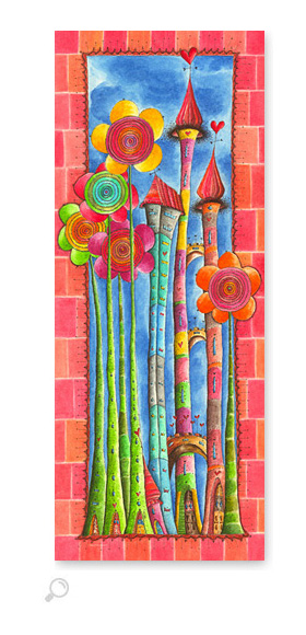 Windblumen Land 1 - Serie: Aquarellbilder Motive fürs Kinderzimmer