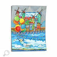 Kurzgeschichten von Kindern - Kinderzimmer Bild - Gemälde Windmühlen Land