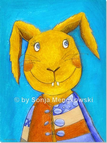 Hopsi Hase - Serie: Pastellbilder Motive fürs Kinderzimmer