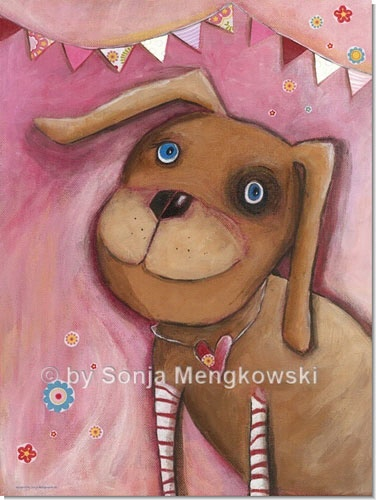 Rosalie - Serie: Acrylbilder Motive fürs Kinderzimmer