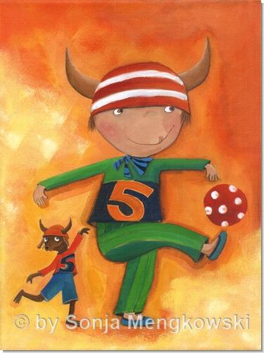 Olle und Bolle - Serie: Acrylbilder Motive fürs Kinderzimmer