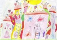 Kyra 10 Jahre (malt Himmelstadt) - Kunst für Kinder