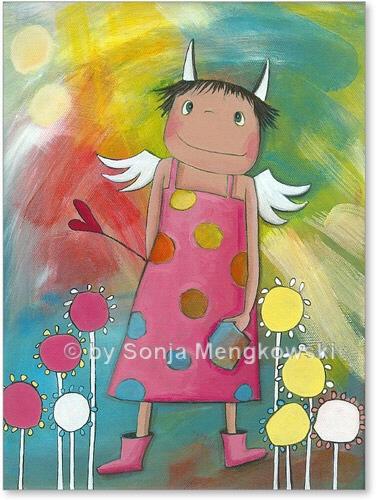 Schutzengel Holly - Serie: Acrylbilder fürs Kinderzimmer