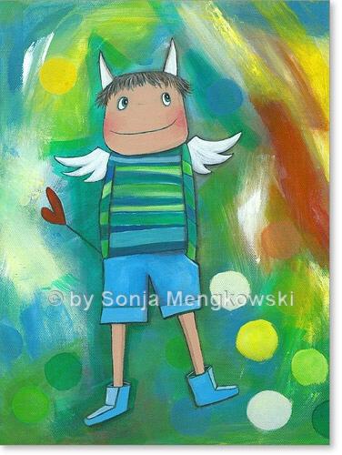 Schutzengel Jack | Serie: Acrylbilder fürs Kinderzimmer