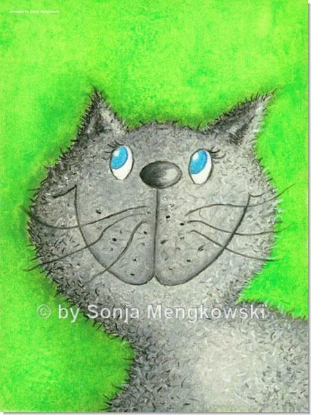 Katze Lina - Serie: Pastellbilder Motive fürs Kinderzimmer