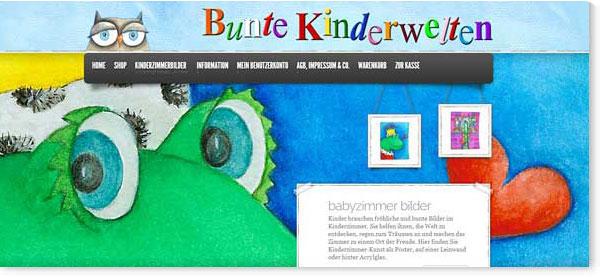 Startseite von bunte-kinderwelten.de