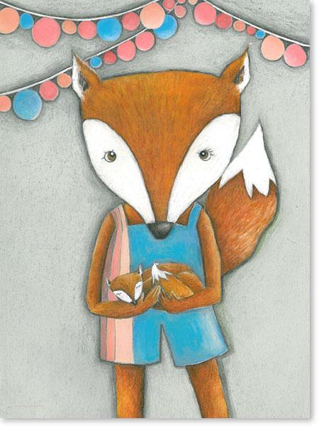 Frau Fuchs - Serie: Pastellbilder Motive fürs Kinderzimmer