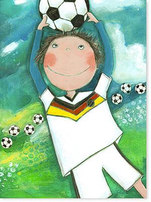 Acrylbild Fußball ist mein Leben für das Kinderzimmer