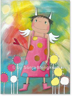 Acrylbild Schutzengel Holly für das Kinderzimmer