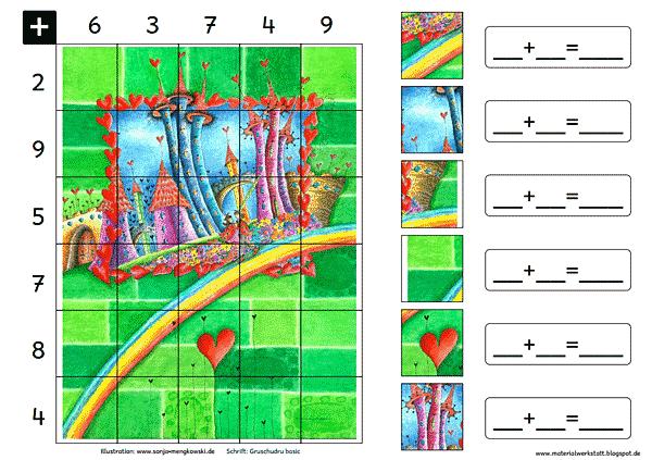 Grundschule Rechenspiele Zahlenraum 20 Regenbogen