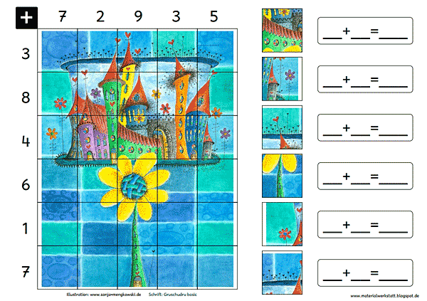 Grundschule Rechenspiele Zahlenraum 20 Sonne