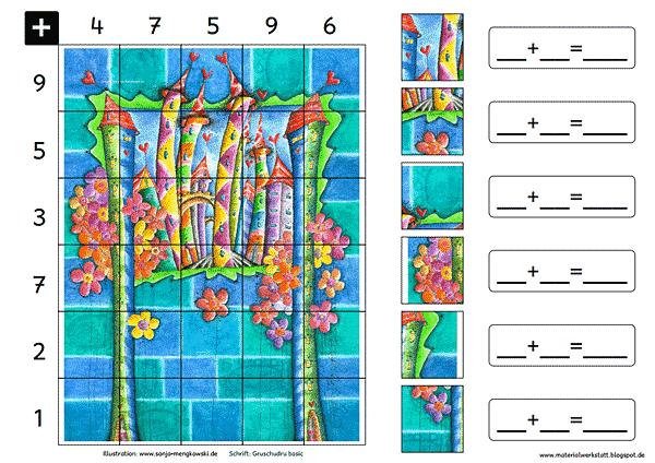 Grundschule Rechenspiele Zahlenraum 20 Türme